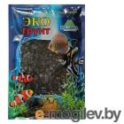 Грунты для аквариумов и террариумов Цветная мраморная крошка Эко грунт 5-10mm 1kg Black 270016