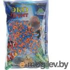 Грунты для аквариумов и террариумов Цветная мраморная крошка Эко грунт 2-5mm 3.5kg Orange/Light Blue г-1011
