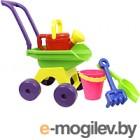 Тележка с игрушками для песочницы Огонек Летний набор №6 / С-999