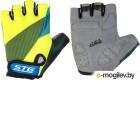 Перчатки велосипедные STG Х87910 (XL, черный/салатовый/синий)