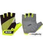 Перчатки велосипедные STG Х87911 (XL, черный/салатовый)