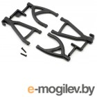 Rear Up/Low A-arms, Black:1/16 ERV