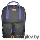 Рюкзак Silwerhof Cube черный/фиолетовый