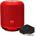 Умная колонка Smartmate, PSS101Y_RD, smart speaker with Yandex Alisa voice assistant, built-in 7.4V@ 2x2200mAh battery, 2x3W sound power, 4 sensitive microphones, Wi-Fi/Bluetooth modes, AUX port, 3 month of Yandex.Plus included, compact design, red color