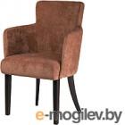 Кресло мягкое Alesan Тим (венге лак/велюр коричневый)