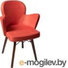 Кресло мягкое ФорестДекоГрупп Келли (Kasmir-112, оранжевый со штрихом)