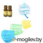 Антивирусный барьер - 2 больших эфирных масла (по 15ml) Пихта, маска медицинская одноразовая трехслойная 3 штуки и вкладыш