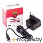 Блок питания Raspberry Pi 4 Model B   Official Power Supply Retail, Black, 5.1V, 3A, Cable 1.5 m, USB Type С output jack,  для Raspberry Pi 4 B (187-3417)(187-3425)