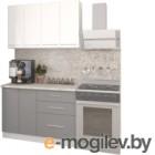 Готовая кухня Кастанье Марта 1.2 (белый глянец/серый пыльный)