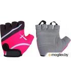 Перчатки велосипедные STG Х61872-Л (L, черный/розовый)