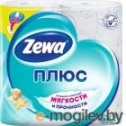Бумага туалетная Zewa Плюс Свежесть Океана бытовая 2-хслойная 23м белый (уп.:4рул) (144053)