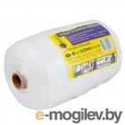 Шнур универсальный (полипропилен) 4,0мм (10м) (белый) (К)