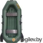 Надувная лодка Муссон S-240 НД (зеленый)