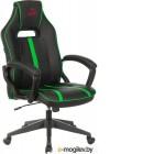 Кресло Бюрократ VIKING ZOMBIE A3 (черный/зеленый)
