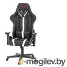 Кресло игровое Бюрократ VIKING ZOMBIE A4 WH черный/белый искусственная кожа