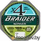 Леска плетеная Konger Braider X4 Olive Green 0.12мм 150м / 250146012