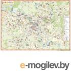 Настенная карта Белкартография Минск (ламинированная)