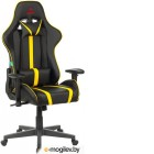 Кресло игровое Бюрократ VIKING ZOMBIE A4 YEL черный/желтый искусственная кожа