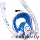 Маска для плавания Bradex SF 0554 (L, белый/синий)