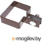 Крепление для забора Lihtar Хомут концевой оцинкованный в полимерном покрытии (60х40мм, коричневый)