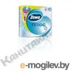 Бумага туалетная Zewa Плюс бытовая 2-хслойная 23м белый (уп.:4рул) (144051)