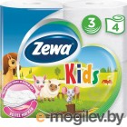 Бумага туалетная Zewa Kids бытовая Deluxe 3-хслойная 20.7м белый (уп.:4рул) (5622)