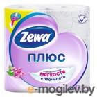 Бумага туалетная Zewa Плюс Сирень бытовая 2-хслойная 23м белый (уп.:4рул) (144108)