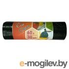 Пакеты мусорные Концепция быта Ecoclean 60л 6мкм чёрный в рулоне (упак.:30шт) (2104)