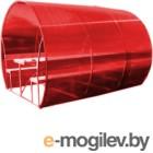 Беседка КомфортПром Пион 3м с покрытием (красный)
