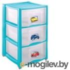 Комод Пластишка Голубой 3 ящика