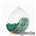 Подвесное кресло BiGarden Tropica White, зеленая подушка