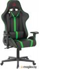 Кресло игровое Бюрократ VIKING ZOMBIE A4 GN черный/зеленый искусственная кожа