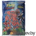 Грунты для аквариумов и террариумов Цветная мраморная крошка Эко грунт 5-10mm 3.5kg Orange/Turquoise г-0281