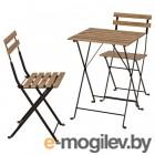 ТЭРНО, Стол+2стула,д/сада, черный, светло-коричневая морилка серо-коричневая морилка