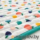 РЁРАНДЕ, Одеяло/плед, орнамент «фрукты/точки», синий, 96x96 см