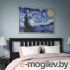 БЬЁРКСТА, Картина с рамой, Звездная ночь, цвет алюминия, 118x78 см