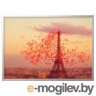 БЬЁРКСТА, Картина с рамой, Эйфелева башня, цвет алюминия, 140x100 см