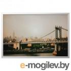 БЬЁРКСТА, Картина с рамой, Манхэттенский мост, цвет алюминия, 118x78 см