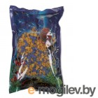 Грунты для аквариумов и террариумов Цветная мраморная крошка Эко грунт 5-10mm 1kg Yellow/Blue 290012
