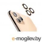 Защитное стекло Hoco для камеры APPLE iPhone 11 Pro/11 Pro Max 3D Metal Frame Flexible Lens Film A18 0.3mm Gold 0L-00044733