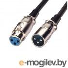 Аксессуары для микрофонов Кабель ATcom XLR/M - XLR/F 3m AT8002