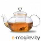 Чайник заварочный стеклянный ЛИПОВЫЙ  ЦВЕТ 700мл со стеклянным ситом арт. TP076