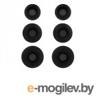 аксессуары для наушников и гарнитур Комплект амбушюр Krutoff 3 пары Размер S/M/L Black 09697
