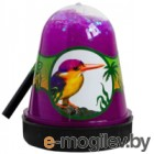 Слайм Jungle Slime Птичка Зимородок с белыми звездочками / BS300-130