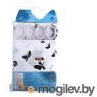 Aquarius Сердечки 180х200cm White-Black 5128951289