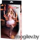 Костюм эротический Candy Girl Lola One Size / 841040 (белый/красный)