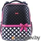 Школьный рюкзак Mike&Mar Бантик / 1008-106 (темно-синий/белый горох)