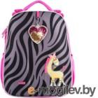Школьный рюкзак Mike&Mar Зебра / 1008-181 (серый/малиновый)