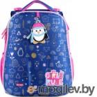 Школьный рюкзак Mike&Mar Пингвин / 1008-186 (синий)