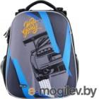 Школьный рюкзак Mike&Mar Машина / 1008-198 (серый/синий)